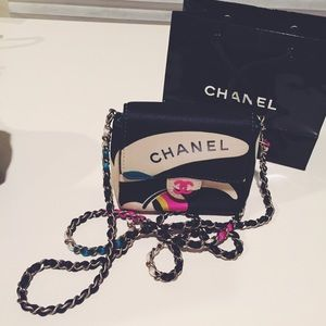 Authentic Chanel micro mini vintage flap bag