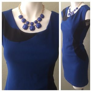 Bebe dress blue bodycon small