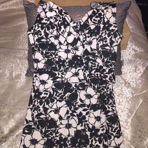 Black and white floral sun dress!