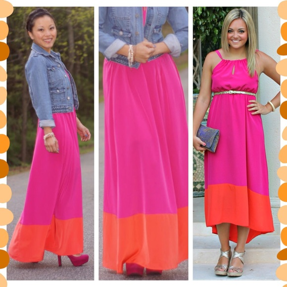 067576c6b6ed ... colorblock maxi dress. M 56df94cb2fd0b7a3aa013f24