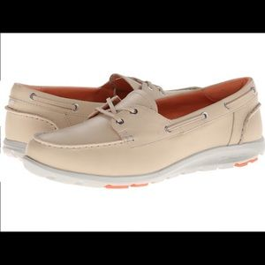Ladies Rockport  boat shoes sz8 leather
