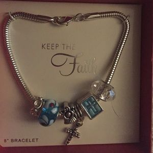 Keep The Faith Charm Bracelet