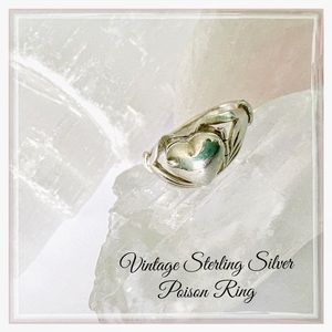 Vintage Sterling Silver Poison Ring