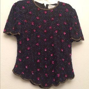 Women's beautiful sequin blouse.