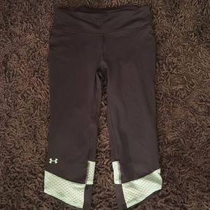 Mint and gray under armour cropped leggings