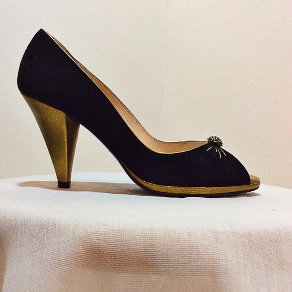 Lulu Guinness Suede Peep-Toe Pumps collections XJ7R6