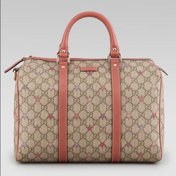 b51979ded7f870 Gucci Bags | Joy Gg Supreme Stars Canvas Boston Bag | Poshmark