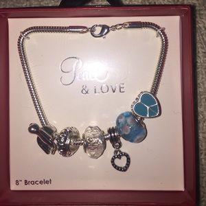 Peace & Love Charm Bracelet