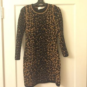 A.L.C. Dresses & Skirts - ALC leopard print sweater dress
