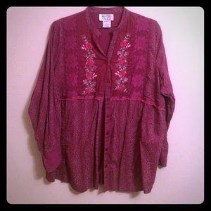 Tops - sale vintage Floral button down shirt plus size