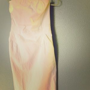 Strapless Banana Republic Dress with Pockets!