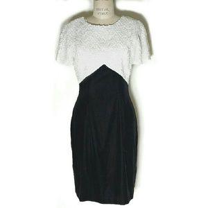 Vtg Sequin & Velvet formal sheath dress