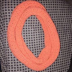 Orange Handmade Infinity Scarf