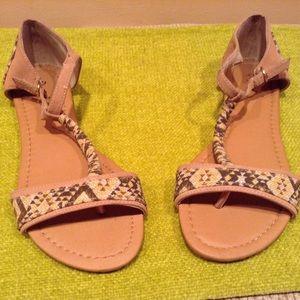 Shoes - Aztec Print Sandals