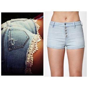 1685769415 PacSun Shorts | Roxy Lace Trim Available On Depop | Poshmark