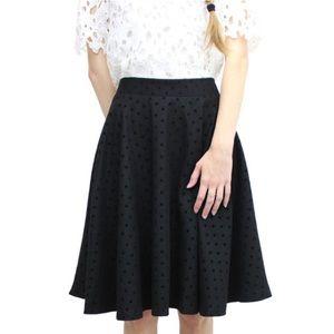 Relished Dresses & Skirts - Relished Black Polka Dot Swing Skirt