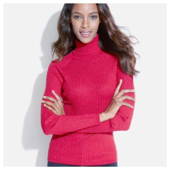 c0edc29a6ea5ea INC International Concepts Sweaters - Pinkish Red Turtleneck