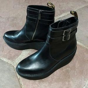 a02521992d4 Dr. Martens Shoes - Black Doc Marten s Caitlin Wedge Boots