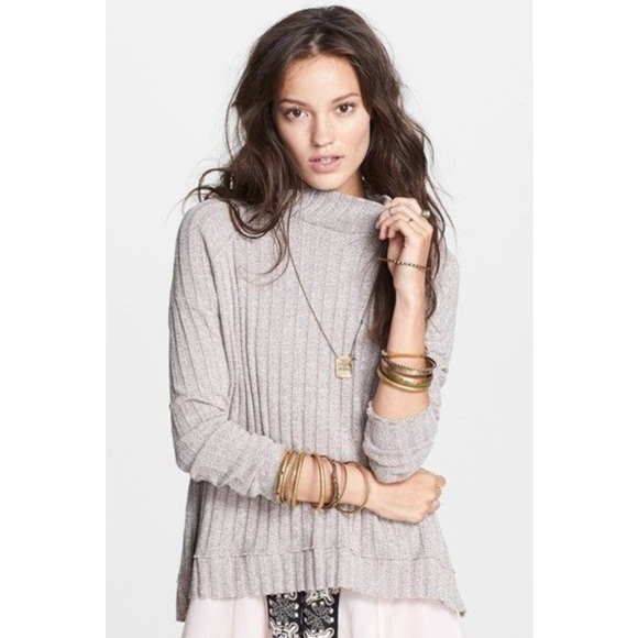 68% off Free People Sweaters - Free People Clarissa Mock Neck ...