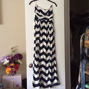 NWOT Empire Waist Chevron Maxi
