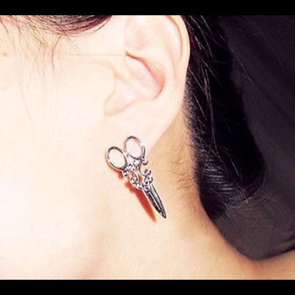 07868c677 Jewelry | Flash Salehairstylist Silver Scissor Earrings | Poshmark