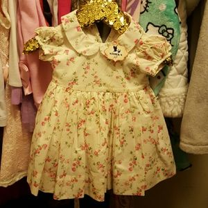 Baby CZ Dresses & Skirts - 3-6 month pink and white floral dress baby cz