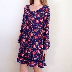 | new | navy floral shift dress