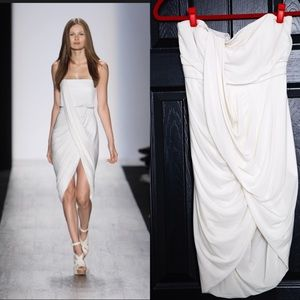 BCBG Runway Collection White Grecian Dress SZ 4