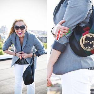 Grey Boyfriend Blazer Size S/M