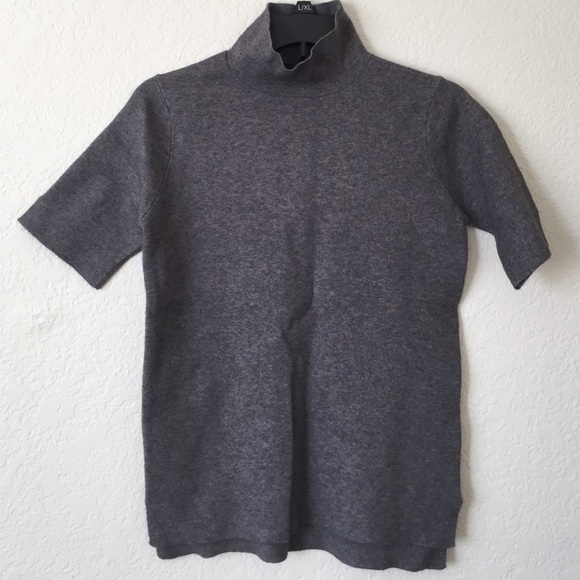 56805bd2 Zara Sweaters | Mod Fitted Knit Short Sleeve Mock Neck Sweater ...