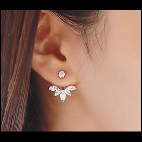 ear cuff clip leaf stud piercing earring os from suggested user
