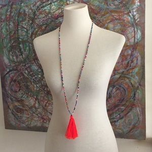 Jewelry - Beaded necklace with tassel