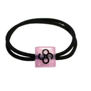 Colette Malouf Accessories - Colette Malouf logo bead elastic in pink dust