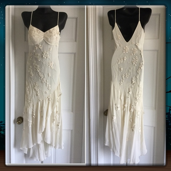 Lillie Rubin Dresses | Vintage Ivory Silk Gown Size 6 | Poshmark