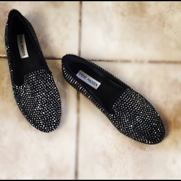 4cef65a00be Women s Black Sparkly Steve Madden Loafers 7.5. M 56e085a399086a67970427b4.  Other Shoes ...