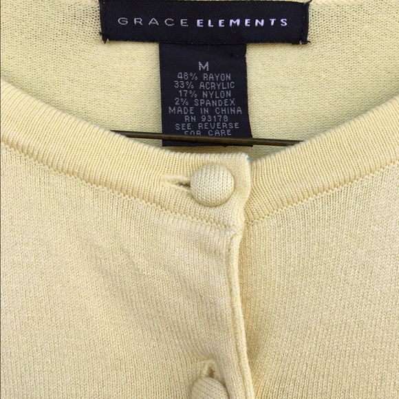 88% off Grace Elements Sweaters - Yellow button down sweater ...