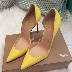 Christian Louboutin Iriza Yellow Pumps