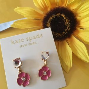 Kate Spade pink Bougainvillea drop earrings