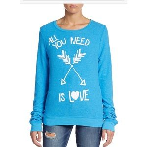 Wildfox Tops - WILDFOX All You Need is Love Sweatshirt 💗💗SALE