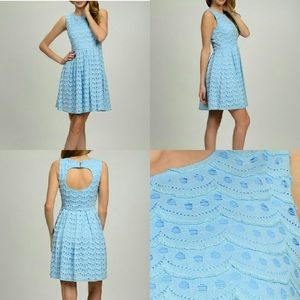 Closet Clear: NWT 🔖 HP Blue Scallop Dress