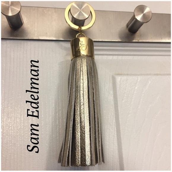 Sam Edelman Accessories - Sam Edelman Leather Tassel Keychain - New