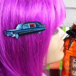 Abbie's Anchor Accessories - Hearse hair clip, necklace or brooch/pin💀