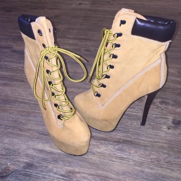 Zigi Girl High Heel Timberland Boots