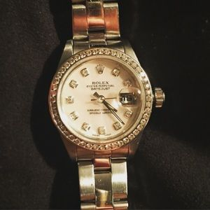 Rolex Accessories - Rolex datejust diamond bezel women's watch.