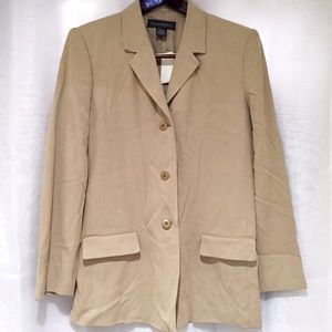Banana Republic Jackets & Blazers - Banana Republic 100% Silk Tan Blazer Suit Jacket