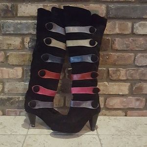 ♨SALE♨ Leather and Suede Rainbow boots!