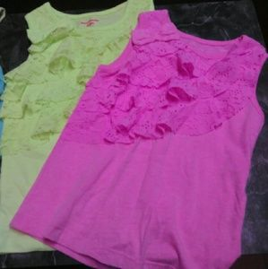 Tops - 8 girls summer tops size 4