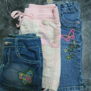 Pants - 9 pairs of girls shorts sz 5/6