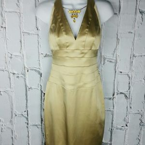 Cache Dresses & Skirts - 💞SALE💞 Gorgeous Gold Cache' Halter Dress