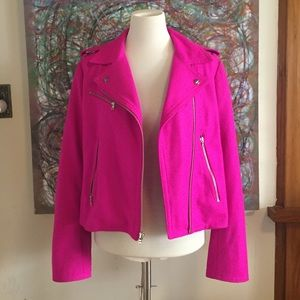 GAP Jackets & Blazers - Hot Pink Moto Jacket